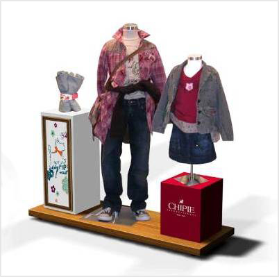 Showcase clothing Display