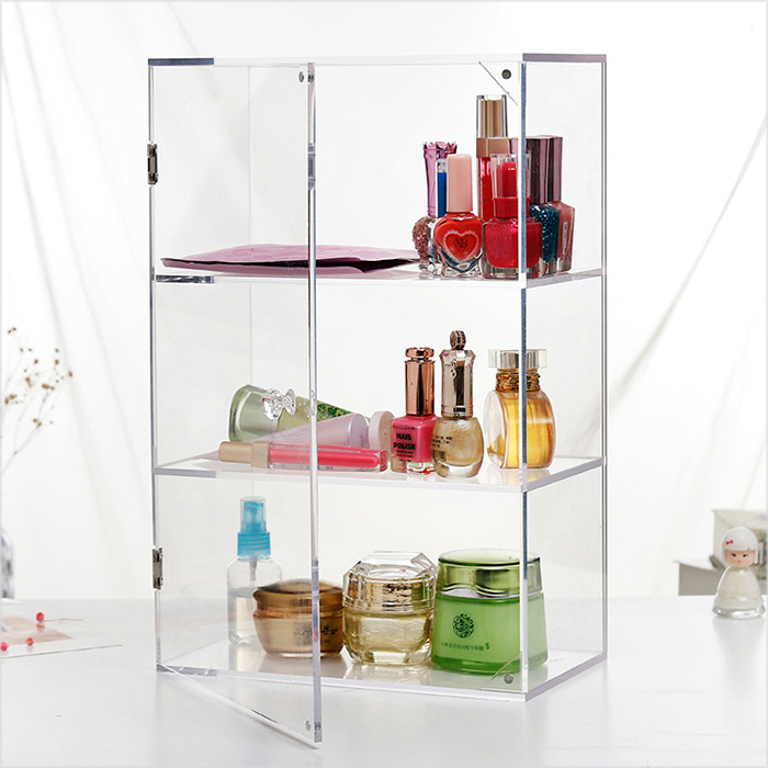 transparent acrylic made cosmetic box