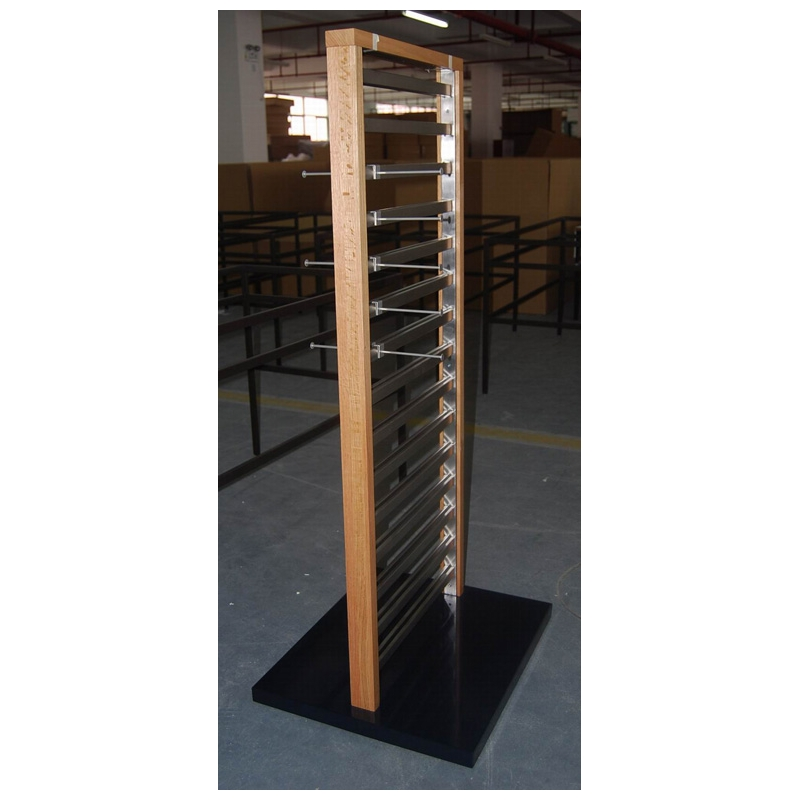 Exhibition Stand Carpet : Stainless steel oak accessory mid floor stand display