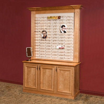Wooden Optical Display Cabinet