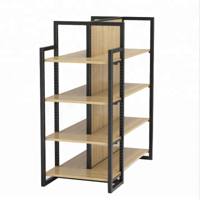 Wood and Metal Display Rack